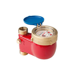 Water meter MTW-ST in a riser with an upward flow for temp. up to 90 °C