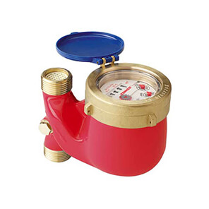 Water meter MTW-F in a downflow riser for temp. up to 90 °C